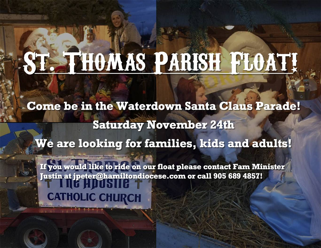 ST. THOMAS PARISH FLOAT FOR THE SANTA CLAUS PARADE!